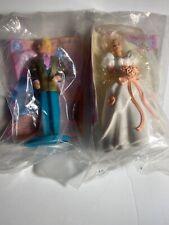 Vintage 1992 ROMANTIC BRIDE GROOM BARBIE & KEN 1994 McDonalds  Happy Meal Toys