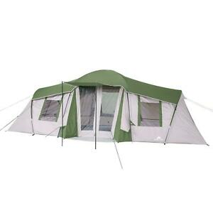 Ozark Trail Family Cabin Tent 3-Season Camping Hiking Outdoor 3-Room Waterproof
