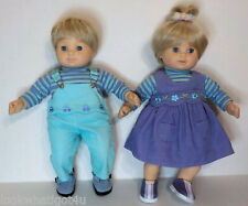 American Girl Bitty Baby Twins Blonde blue eyes retired Ponytail top of head