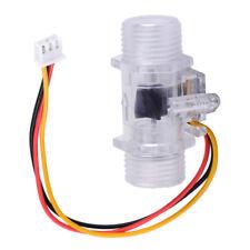 "Hot Water Flow Sensor G1/2"" Fluid Flow Meter Water Control Transparent Enclosure"