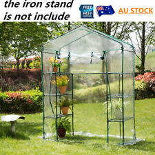 Garden Greenhouse Walk-In Green Hot Plant House Shed Storage PE Cover Apex Roof