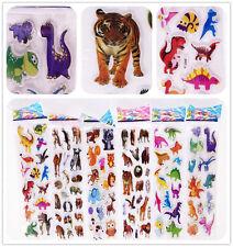 "6 sheets Classic Cartoon ""Cartoon Animals""Stickers lot Kids study teaching Gift"