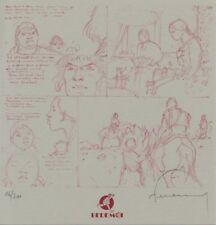 Ex-libris Offset Tours de Bois-Maury (Les) Page crayonnée Bédémoi