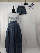 """Mom And Me Barbie Doll Ankara Maxi Skirt Pocket Africa Hair Bow SIZE10 Waist 33"""""""