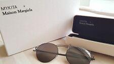 MYKITA X MAISON MARTIN MARGIELA MMESSE011 E6 Dark Grey Metal Sunglasses