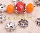 100pcs 8mm Flower Tibetan Silver Bead Caps Charms Spacer Beads Jewelry Findings