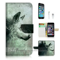 ( For iPhone 6 / 6S ) Wallet Case Cover P0793 Wolf