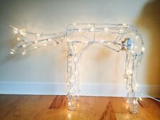 Video 40 Lx26 H Reindeer Statue Clear Lights Head Moves Up Down Yard  Lawn Decor