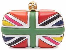 Oro de Alexander McQueen Calavera Bandera Clutch Bag Multicolor