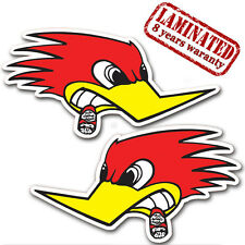 2 VINYL STICKERS MR HORSEPOWER WOODPECKER AUTO MOTO BIKE CAR RACE TUNING B 295