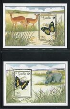 Gambia 836-845, MNH, Insects Butterflies, 1989. x26136