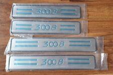 """4 EDELSTAHL EINSTIEGSLEISTEN PEUGEOT 3008 MK1 """"3008"""" , Bj. 2009 - 2016"""