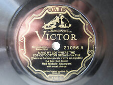 78rpm RED NICHOLS' STOMPERS - Sugar / Make my cot where the cotton grows - HOT !