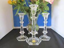 Bleikristall Crystal Candleholders / Candlesticks, Set of Three