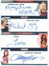 "VELVET SKY ANGELINA LOVE TARA CHRISTY HEMME ""AUTOGRAPH /25"" TNA IMPACT 2009"