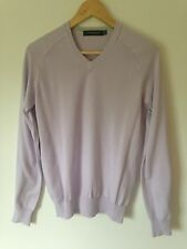 FULL CIRCLE 100% cotton lilac v neck jumper - Size S - New - £89.99
