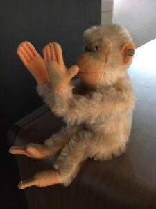 Steiff Schimpanse Jocko Weiß mit Knopf