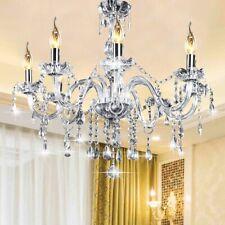 Kingso E12 Elegant Crystal Candle Decoration Chandelier Pendant Ceiling 6 Light