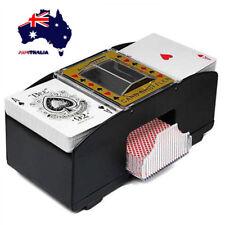 AU Pro Automatic Card Shuffler Poker Games Casino Fast Shuffle Two Deck Sorter