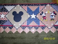 """NEW Disney AMERICANA 10"""" Mickey Minnie Mouse Pre-Pasted Wallpaper Border 5 Yds"""