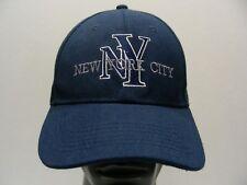 d97f0e4f72d NEW YORK CITY - BLUE - ACRYLIC - ONE SIZE ADJUSTABLE BALL CAP HAT!