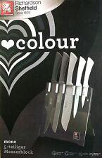 Richardson Sheffield Colour Design Messerblock Set Mono 5 teilig + Ständer
