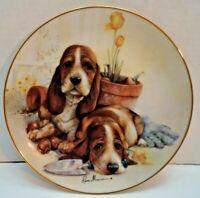 Beagles Dog, PUPPY PALS, Little Gardeners, Ruane Manning, Danbury Mint Plate