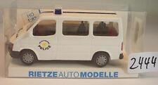 Rietze 1/87 50722 FORD TRANSIT BUS VAN POLIZIA POLICE Eupen Belgio OVP #2444