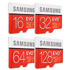 SAMSUNG EVO PLUS CLASS10 micro SD SDHC SDXC 128GB 64GB 32GB 16GB 80MB/s* LOT US*