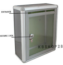 Multipurpose Suggestion/Donation/Visiting Card Drop Box with Lock & Wall Mount