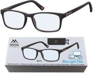 ---Blaulichtfilter-- Lesebrille Montana Blaufilter schwarz matt Aktions-Preis !!