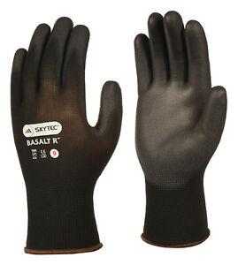 10 x Pairs Skytec Work Gloves PU Precision Dexterity Grip Abrasion (Basalt R)