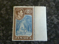JAMAICA POSTAGE STAMP SG131 2/- BLUE & CHOCOLATE MARGINAL VLMM