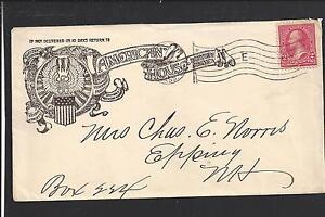 """BOSTON, MASSACHUSETTS 1898 COVER ADVT. ILLUST HOTEL, """"AMERICAN HOUSE""""."""