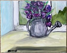 Still Life Original Oil Canvas Flowers Impressionism Realism Modern Art
