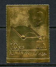 Ajman 1967  #Mi208    Kennedy  GOLD FOIL  1v.  MNH  H438
