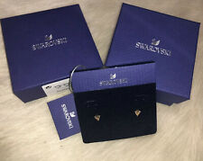 New In Box yellow SWAROVSKI Gold Plated TRIANGLE Earrings Studs 5523550 genuine