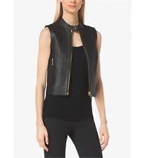 NEW! MICHAEL KORS ~Size XL~ Genuine 100% Lamb Leather Black Vest Retail $395
