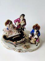 Vintage Mid-Century Frankenthal Dresden Porcelain Three Musician Figurine