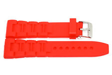 26MM RED SOFT RUBBER SILICONE QUALITY SPORT LINK WATCH BAND STRAP FOR INVICTA