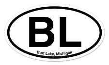 "BL Burt Lake Michigan Oval car window bumper sticker decal 5"" x 3"""