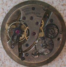 Invicta Pocket Watch movement & dial 44 mm. in diameter balance broken