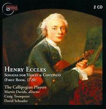 Henry Eccles: Sonatas for Violin & Continuo (CD, Jun-2013, 2 Discs, Musica...