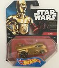 Hot Wheels Star Wars Car C-3PO The Force Awakens Gold Drag Bus New And Sealed