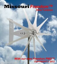 Missouri Rebel Freedom 24 volt 1700 watts max 9 blade wind turbine generator
