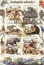Czech stamp sheet - Nature Protection: Zoological Gardens I - 4stamps + 2coupons
