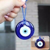 Türkische Blue Eye Wand Home Office Glas Anhänger Dekoration Ornament E9J7