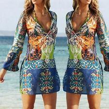 Sexy Women Summer Boho Floral Sundress Casual Chiffon Evening Party Beach Gift