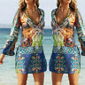 Sexy Women Summer Boho Floral Sundress Evening Party Beach Casual Chiffon Dress