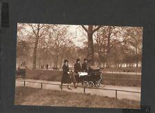Nostalgia Postcard Princess Elizabeth & Margaret with Nannies in Hyde Park 1932